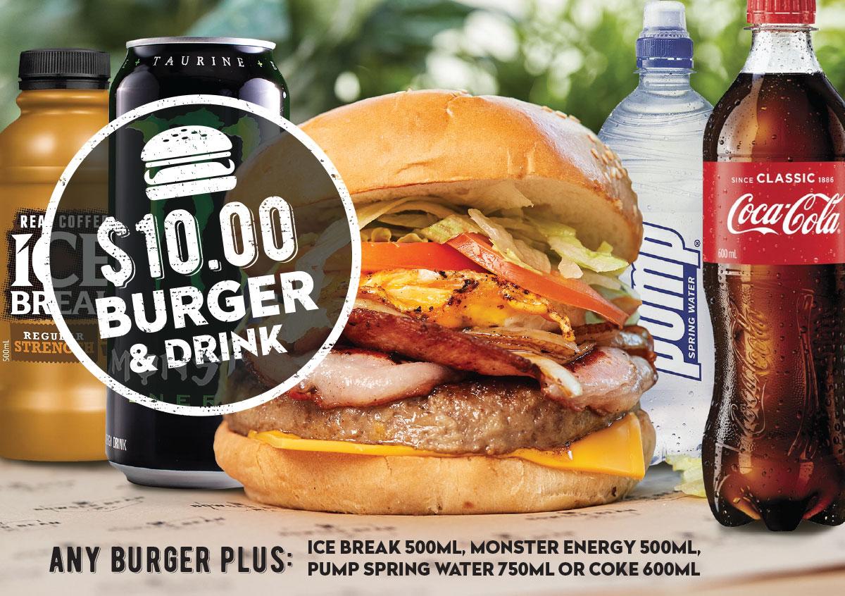 $10 Burger & Drink